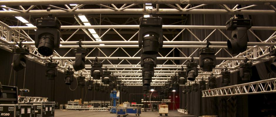 Grid met Robin 100 LED beams